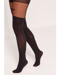 Missguided Gothic Cross Stocking Tights Black