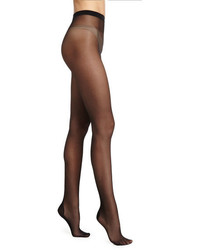 Wolford Paris Sheer Tights With Crystal Back Blackgold