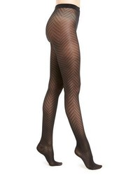 Wolford Rhoda Zigzag Patterned Tights