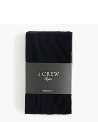 J.Crew Ribbed Tights In Black