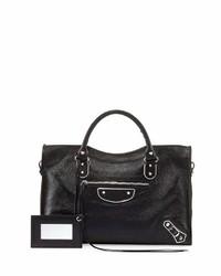 Balenciaga Classic Metallic Edge City Tote Bag Black