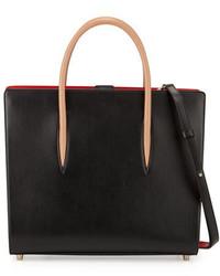 Christian Louboutin Paloma Large Triple Gusset Tote Bag Black