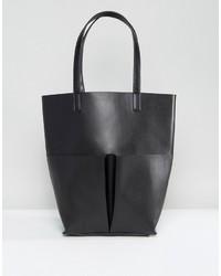 Glamorous Pocket Tote Bag In Black
