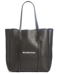 Balenciaga Small Everyday Logo Calfskin Tote Black