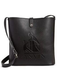 Lanvin So Embossed Leather Shopper