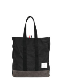 Thom Browne Unstructured Tote Bag In Nylon And Suede