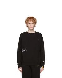 AAPE BY A BATHING APE Black Sweatshirt And Lounge Pants Set