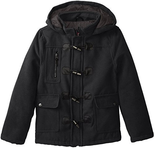3b18349c1299 YMI Jeanswear Ymi Big Boys Hooded Wool Coat With Toggle Buttons