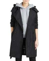 Burberry Amberford Taffeta Trench Coat With Detachable Hood