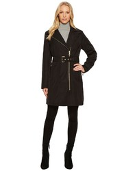 Vince Camuto Belted Asymmetrical Zip Trench N8711 Coat