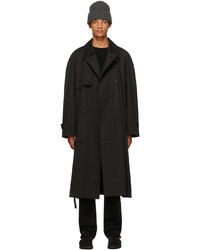 The Row Black Cashmere Omar Trench Coat