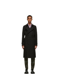 Burberry Black Chelsea Heritage Long Trench Coat