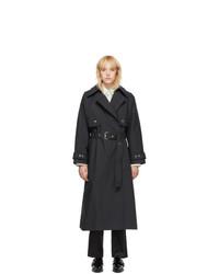3.1 Phillip Lim Black Dolman Sleeve Trench Coat