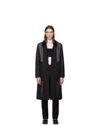 Burberry Black Double Layered Trench Coat
