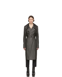 Rick Owens Black Drella Trench Coat