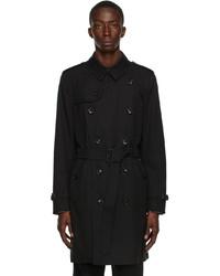Burberry Black Kensington Heritage Trench Coat