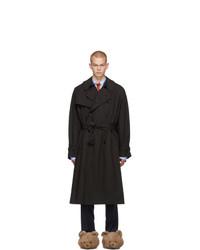 Vetements Black New Classic Trench Coat