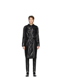 Nomenklatura Studio Black Nylon Trench Coat