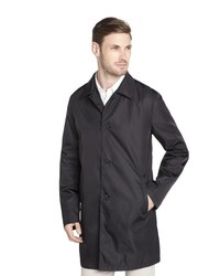 Prada Black Nylon Water Resistant Raincoat