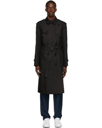 Burberry Black Patchwork Westminster Trench Coat