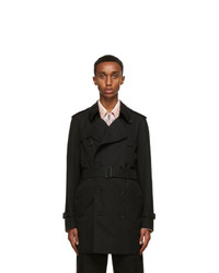 Burberry Black Short Wimbleton Trench Coat