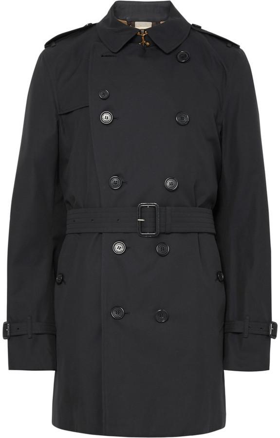 Burberry Kensington Mid-Length Weatherproof Cotton-Gabardine Trench Coat fb030560eac