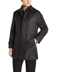 Calvin Klein Canton Tonal Pinstripe Raincoat Quilted Lining
