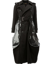 Comme des garons bubble trench coat with clear plastic details medium 5206755