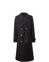 Burberry Cotton Gabardine Trench Coat With Warmer