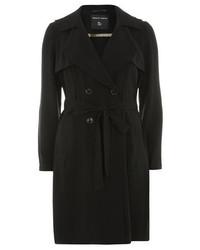 Dorothy Perkins Black Crepe Trench Coat