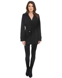 Double breasted belted trench w gunflaps coat medium 677474