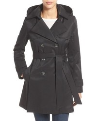 Halogen detachable hood trench coat medium 677376