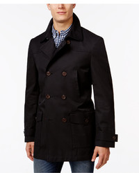 Lauren Ralph Lauren Latrell Black Double Breasted Rain Coat