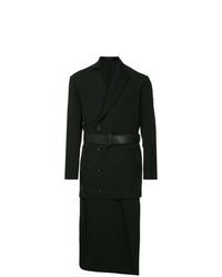 Yohji Yamamoto Layered Double Breasted Coat