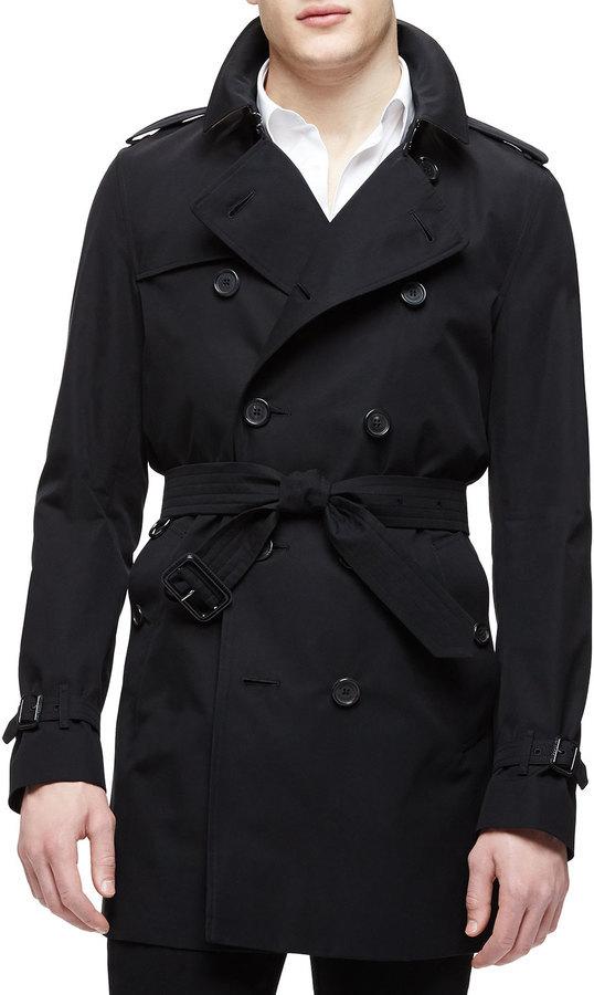 4aba1d37a030 ... Burberry London The Kensington Mid Length Heritage Trench Coat Black ...
