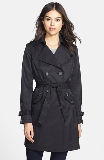stylish design exceptional range of colors perfect quality $198, DKNY Meghan Zip Detail Double Breasted Trench Coat