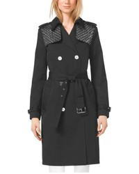 Michael Kors Michl Kors Embellished Sateen Trench Coat