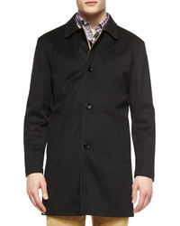 Peter Millar Modena Reversible Trenchcoat Black