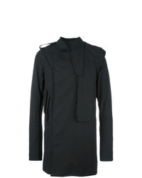 Rick Owens Pea Trench Coat Black