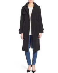 London Fog Petite Double Breasted Trench Coat