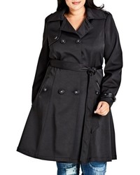 Plus size corset back trench coat medium 5209605