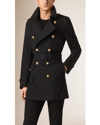 Burberry Regital Button Cotton Gabardine Trench Coat