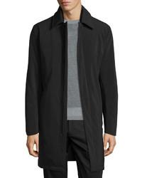 Theory Skodi Padded Zip Raincoat Black