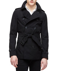 Burberry The Sandringham Short Trenchcoat Black