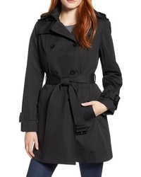 London Fog Trench Coat With Detachable Liner Hood