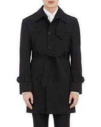 Thom Browne Twill Trench Coat Black
