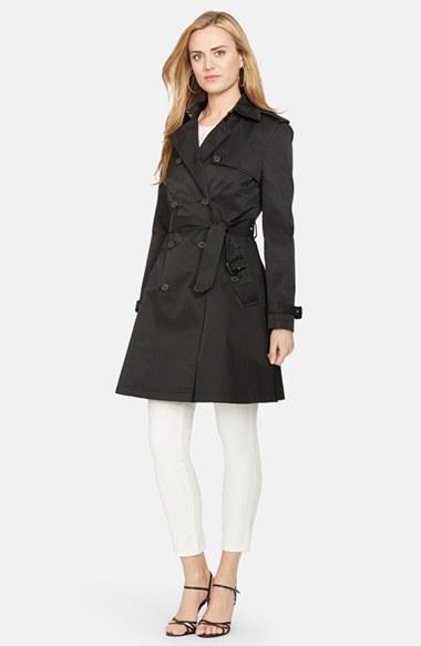 fb095291 $200, Lauren Ralph Lauren Water Resistant Double Breasted Skirted Trench  Coat