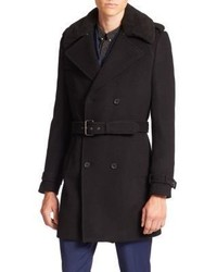 The Kooples Wool Blend Trench Coat