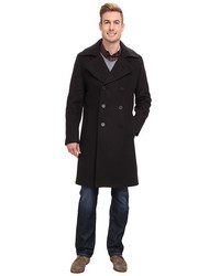 Andrew Marc X Richard Chai Ivan Italian Pressed Self Bonded Wool Elongated Double Breasted Trench