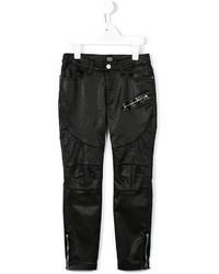 Armani Junior Faux Leather Skinny Trousers
